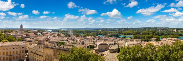 ©sergii figurnyi, panoramic aerial view of Avignon
